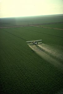 pesticide spray from plane